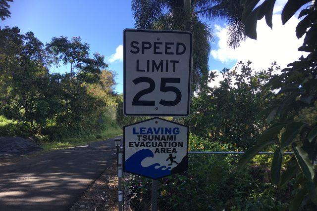 Havaj – výstražné cedule