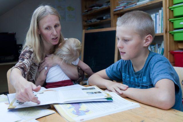 Domácí vyučování (ilustrační foto)