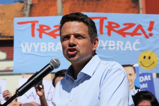Primátor Varšavy a vyzyvatel prezidenta Dudy Rafal Trzaskowski.