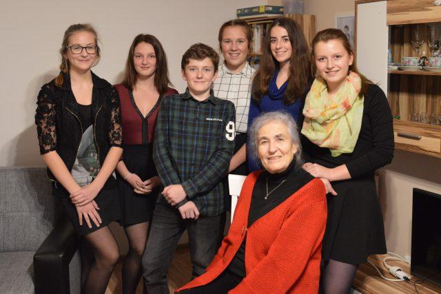 Helena Glancová se studenty