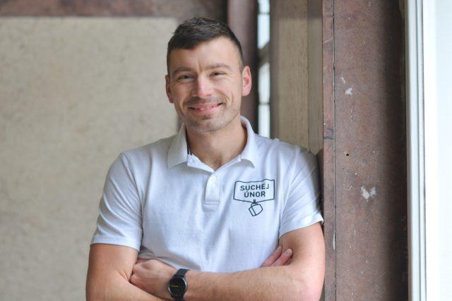 Organizátor akce Suchej únor Petr Freimann z Ligy otevřených mužů   foto: Jessica Petrů