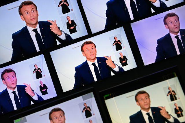 Emmanuel Macron v televizním projevu ke koronaviru