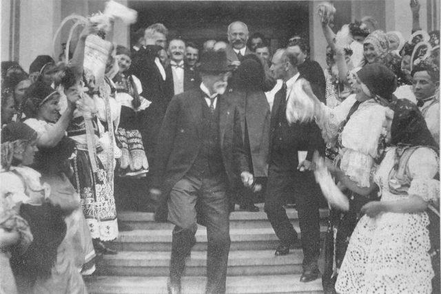 Tomáš Garrigue Masaryk v Čelákovicích v roce 1924