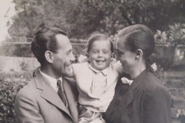Anna Grušová na snímku se svými rodiči