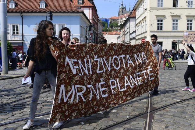 Stávka studentů za lepší ochranu klimatu a snižování emisí