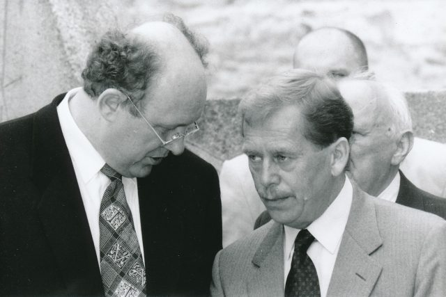 Marián Čalfa a Václav Havel