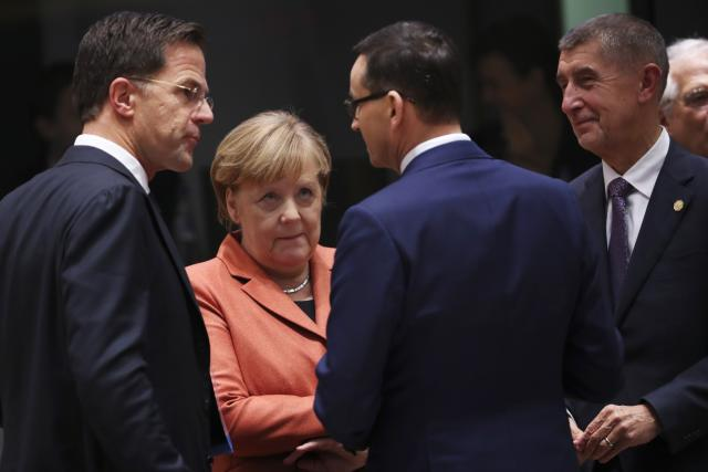 Mark Rutte, Angela Merkelová, Mateusz Morawiecki, Andrej Babiš