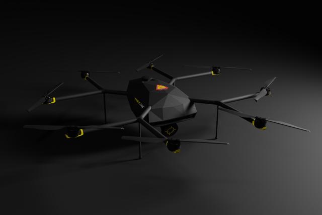 Nový dron,  který vyvinuli výzkumníci z ČVUT | foto: FEL ČVUT