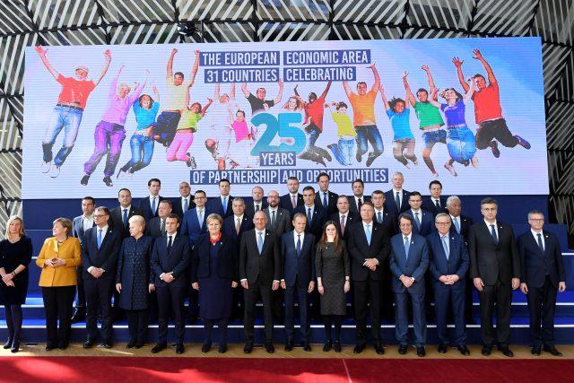 Lídři Evropské unie na summitu v Bruselu