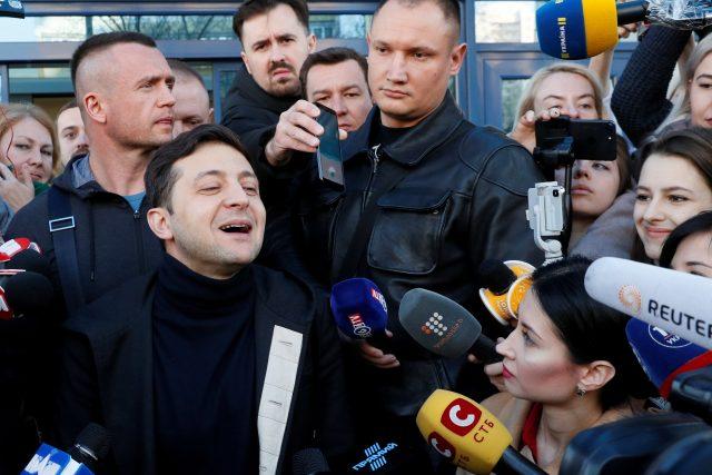 Ukrajinský prezidentský kandidát Volodymyr Zelenskyj