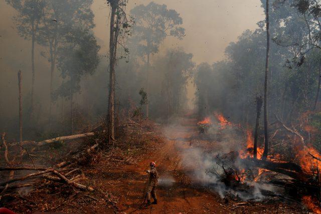 Požár amazonského pralesa v Brazílii