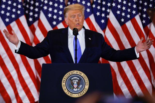 Americký prezident Donald Trump okomentoval průběžné výsledky z Bílého domu