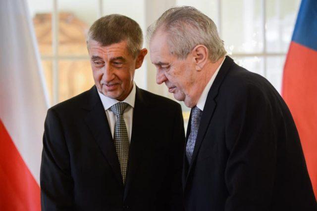 Premiér Andrej Babiš a prezident Miloš Zeman
