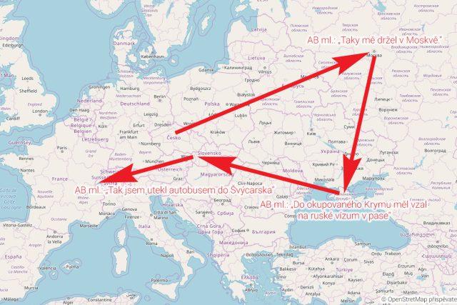"""Andrej Babiš mladší serveru Seznam Zprávy řekl, že ho Protopopov držel v Sevastopolu a Jaltě na Krymu. """"Taky mě držel v Moskvě. Do okupovaného Krymu mě vzal z Moskvy na ruské vízum v pasu,"""" řekl Babišův syn"""