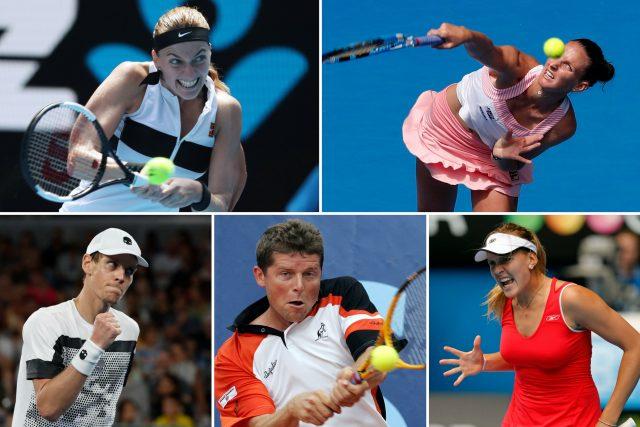 Petra Kvitová, Karolína Plíšková, Tomáš Berdych, Jiří Novák a Nicole Vaidišová, nejúspěšnější čeští tenisté na Australian Open posledních let.