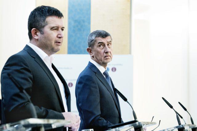 Andrej Babiš a Jan Hamáček   foto: Michaela Danelová,  iROZHLAS.cz