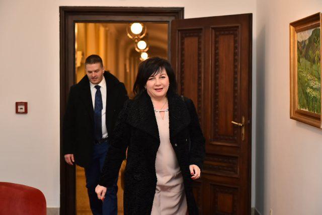 Ministryně financí Alena Schillerová za ANO