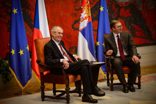 Prezident Miloš Zeman na státní návštěvě Srbska s prezidentem Aleksandarem Vučićem