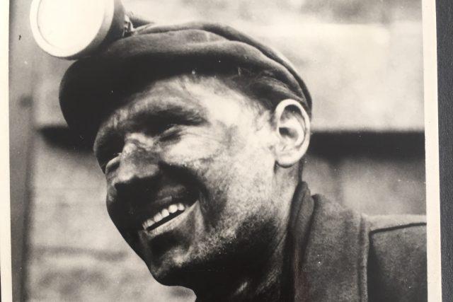 Černík u PTP jako horník 1956