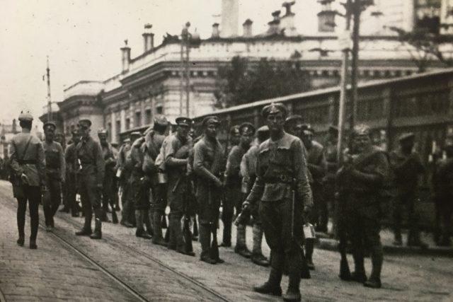 Historická fotografie československých legionářů