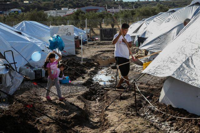 Uprchlický tábor v Řecku,  ilustrační foto | foto: Profimedia