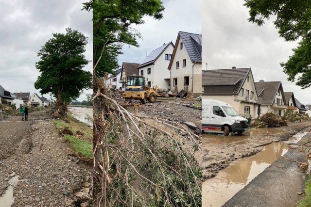 Povodněmi postižené městečko Ahrweiler v Německu.   foto: Martin Balucha,  Český rozhlas