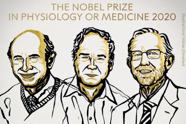 Držitelé Nobelovy cena za fyziologii a lékařství za rok 2020