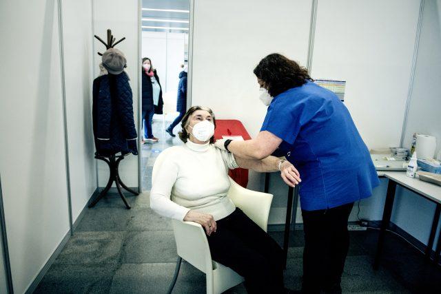 Očkování v Kongresovém centru