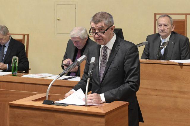 Premiér Andrej Babiš (ANO) v Senátu