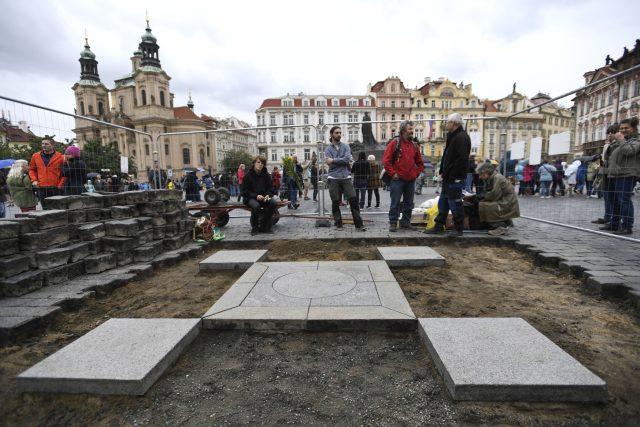 Obnova Mariánského sloupu na Staroměstském náměstí.