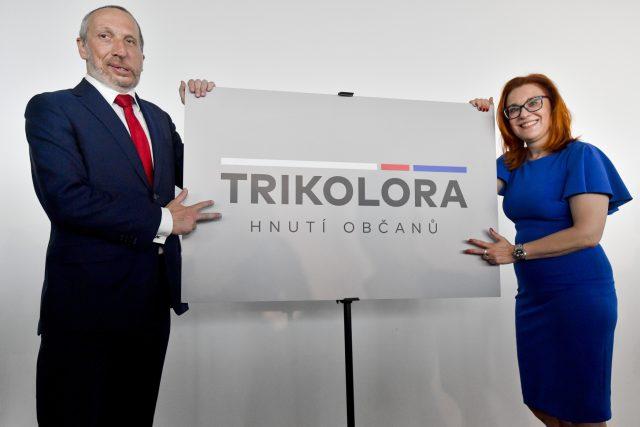 Václav Klaus mladší a Zuzana Majerová Zahradníková představili nové hnutí Trikolóra