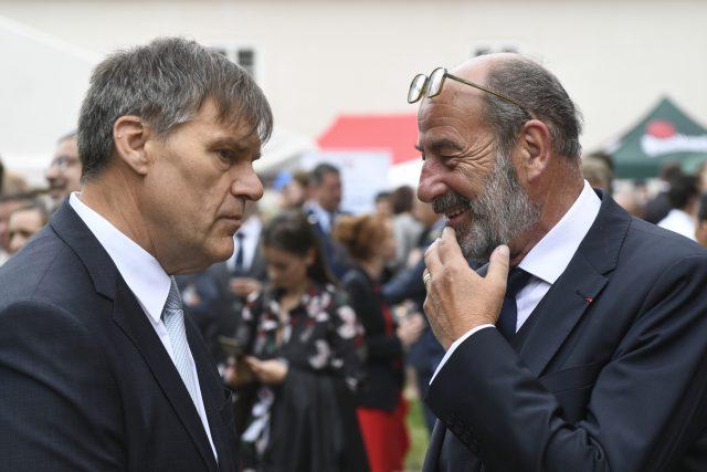 Miloš Zeman jmenoval Michela Fleischmanna (vpravo) francouzským velvyslancem.