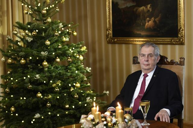 Prezident Miloš Zeman při vánočním poselství 2019