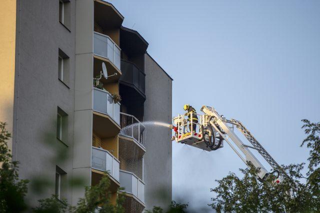 Požár v Bohumíně propukl v jednom z bytů v jedenáctém patře