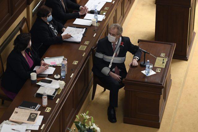 Prezident Miloš Zeman podpořil ve sněmovně návrh rozpočtu se schodkem 320 miliard korun