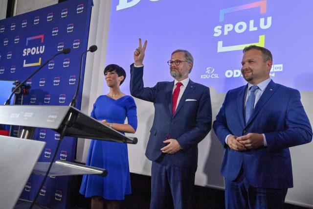 Koalice Spolu vyhrála sněmovní volby | foto: Šimánek Vít,  ČTK
