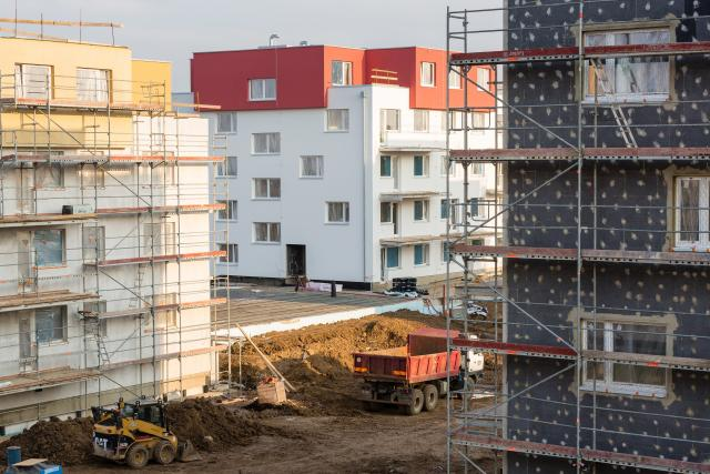Výstavba bytů v Praze (ilustrační foto).