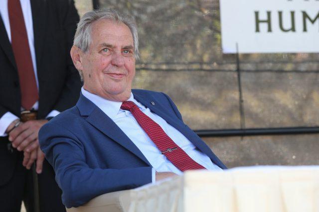 Prezident Miloš Zeman během červencové návštěvy Vysočiny
