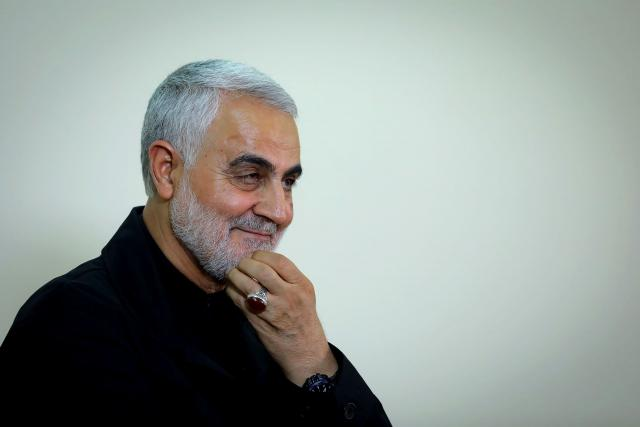 Kásem Solejmání,  velitel íránských elitních jednotek,  na fotografii z října 2019. Na snímku je vidět výrazný prsten,  který nosil na levé ruce | foto: Profimedia
