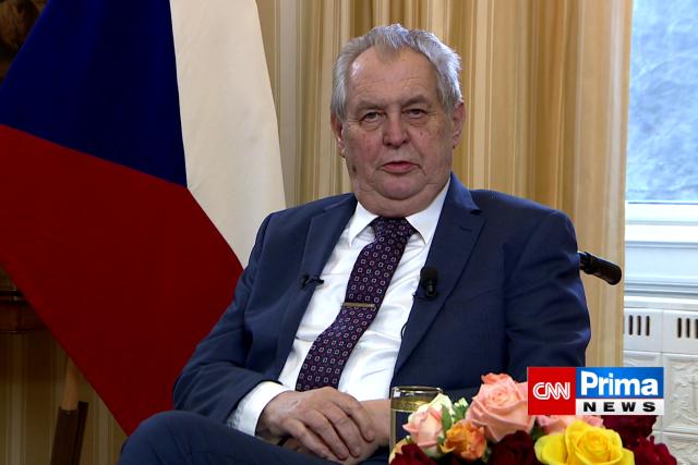 Prezident Miloš Zeman při projevu.