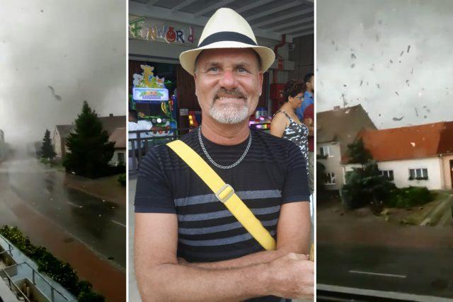 Pan Radovan,  který natočil tornádo v Lužici | foto: Koláž iROZHLAS