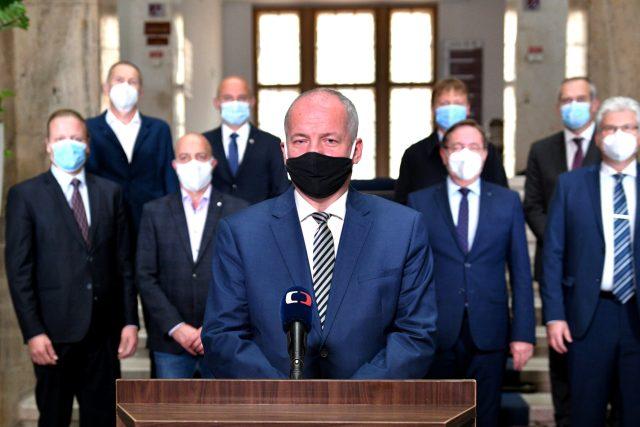 Ministr zdravotnictví Roman Prymula během televizního projevu