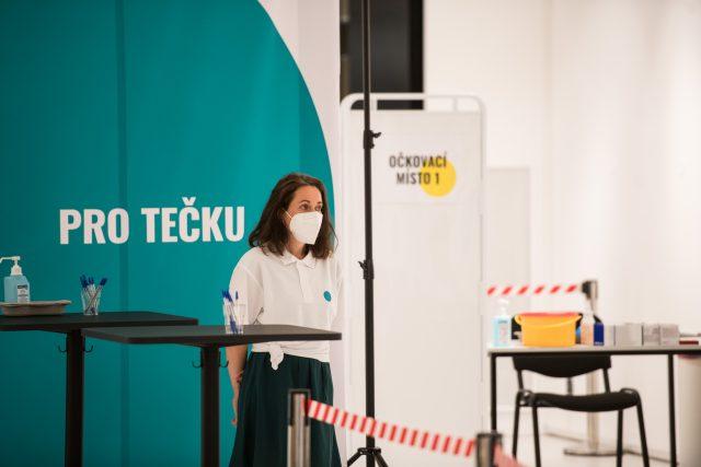 Očkovací centrum je připraveno rozdávat tečky.   foto: René Volfík,  iROZHLAS.cz