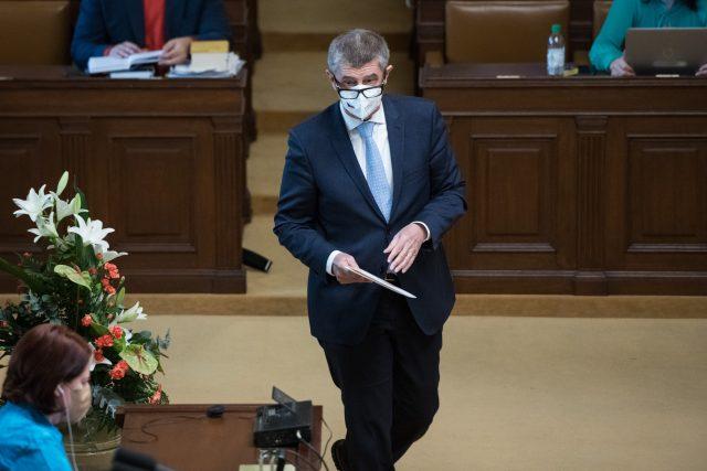 Hlasování o nedůvěře v Poslanecké sněmovně. Andrej Babiš.
