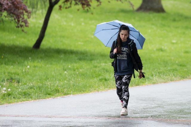 deštivě počasí, ilustrační foto