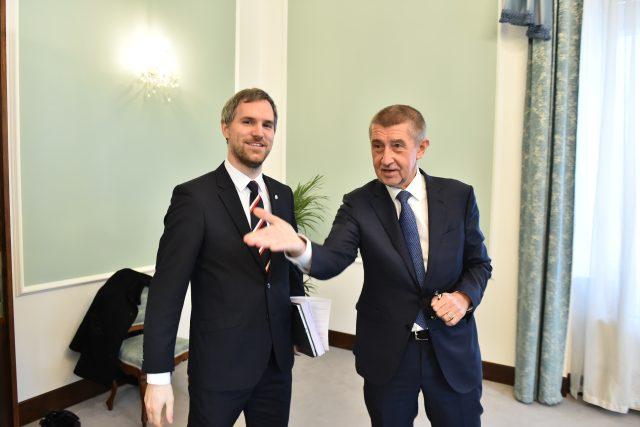 Pražský primátor Zdeněk Hřib (vlevo) a premiér Andrej Babiš