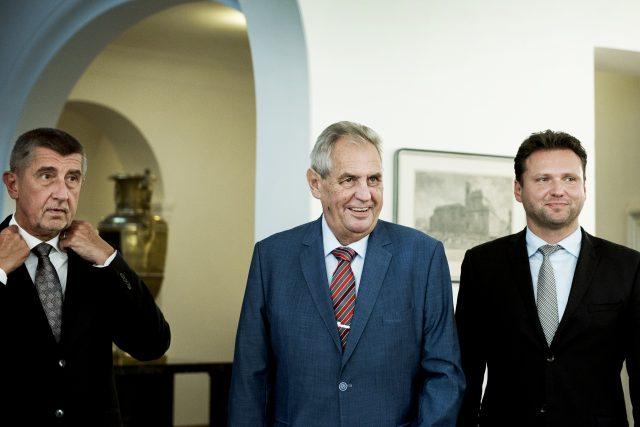 Andrej Babiš, Miloš Zeman a Radek Vondráček
