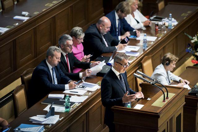 Druhá vláda Andreje Babiše žádá Poslaneckou sněmovnu o důvěru | foto: Michaela Danelová, iRozhlas