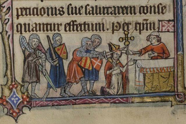 Vražda Thomase Becketa, jak ji zachytil neznámý středověký umělec z Glasgow