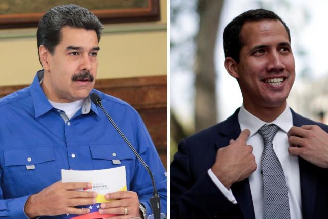 Venezuelský prezident Nicolás Maduro a vůdce opozice Juan Guaidó